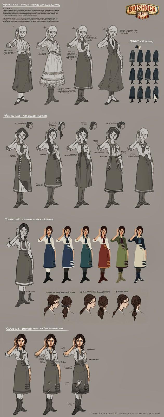 Claire Hummel Concept Art. Vestuarios y personajes